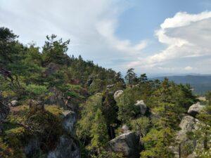 Szczeliniec Wielki, najwyższy szczyt Gór Stołowych należący do Korony Gór Polski. Opis szlaków, trasy wycieczkowe, atrakcje turystyczne.