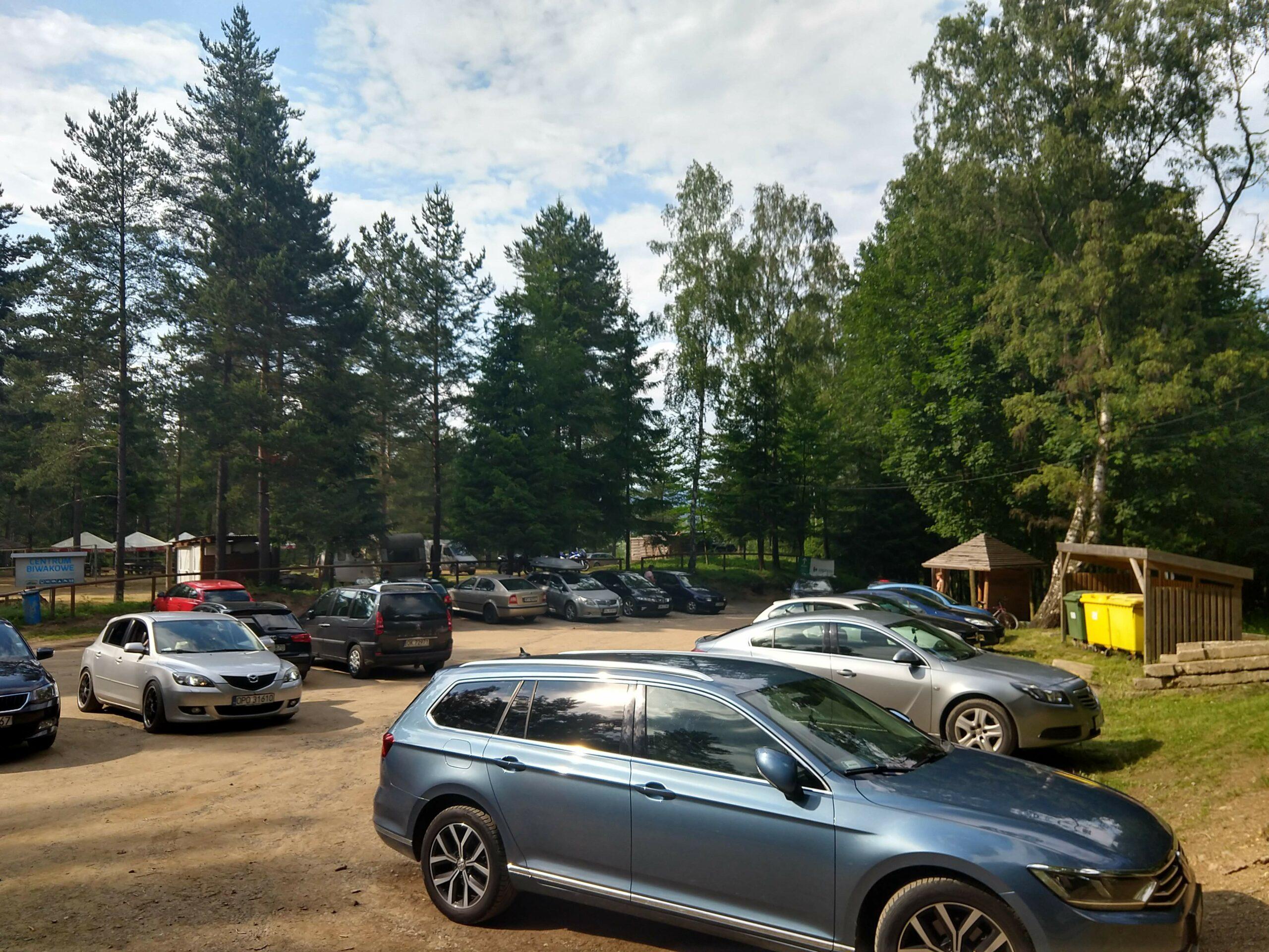 Kolorowe Jeziorka parking