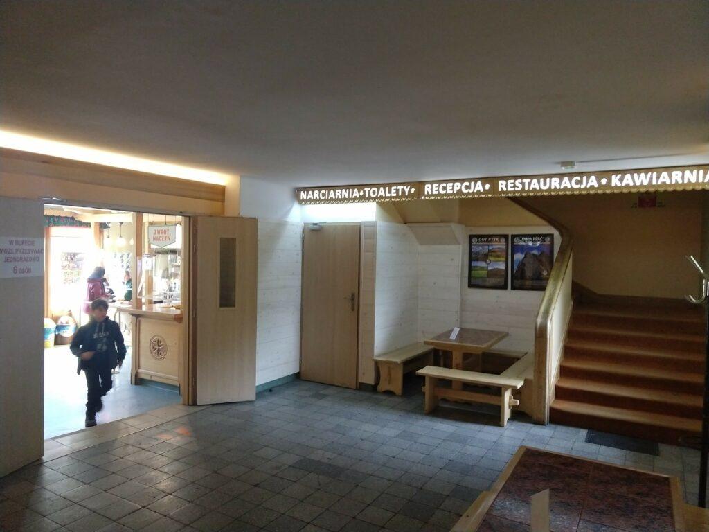 Wnętrze Hotelu Górskiego Kalatówki