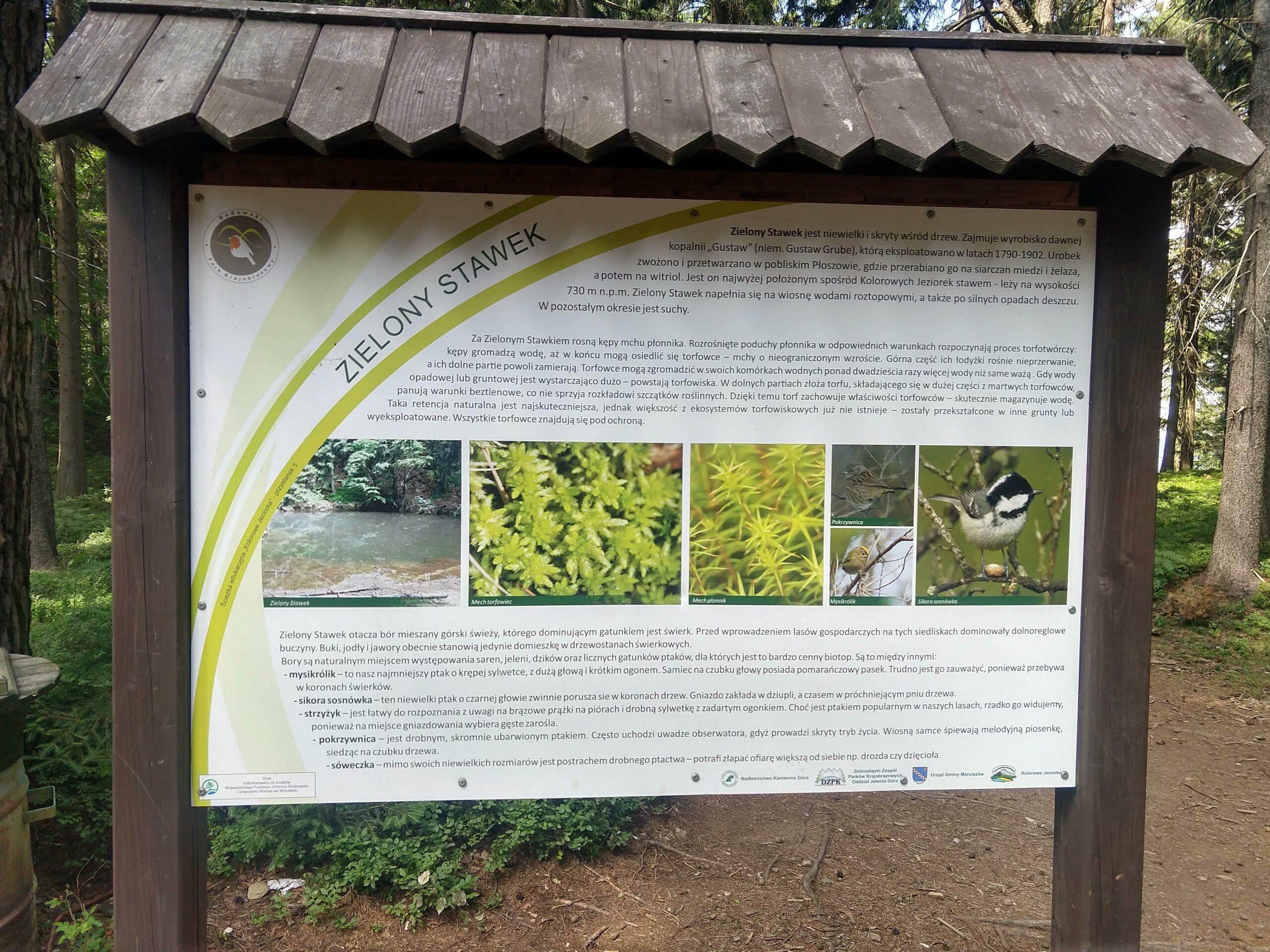 zielony stawek tablica informacyjna